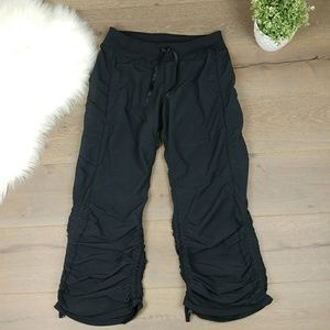 Zella scrunch black athletic pants adjustable